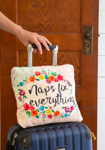 Naps Fix Everything 2-in-1 Cozy Blanket Pillow