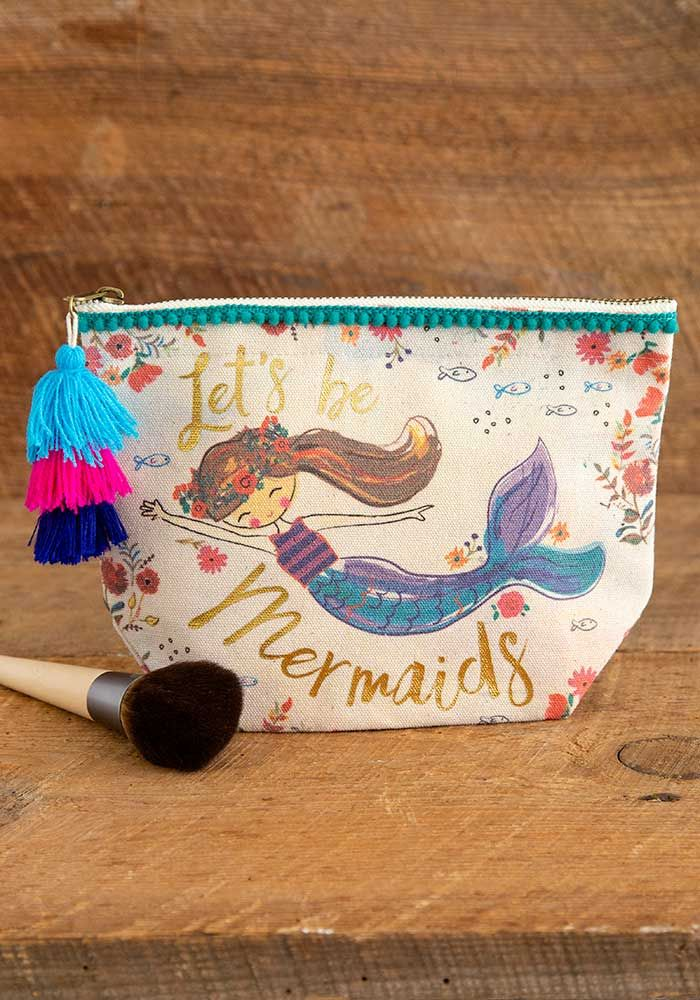 Let's Be Mermaids Canvas Pouch