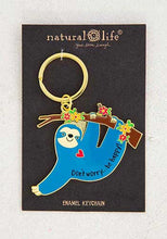 Load image into Gallery viewer, Don't Worry Be Happy Enamel Keychain