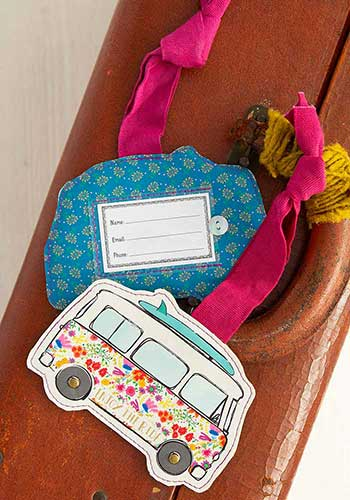 Enjoy The Ride Luggage Tag