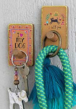Load image into Gallery viewer, I Love My Dog Wooden Wall Hook Set