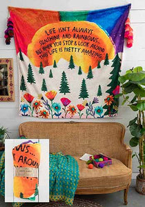 NATURAL LIFE  - LIFE ISN'T ALWAYS SUNSHINE TAPESTRY BLANKET