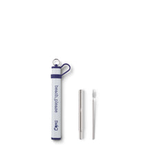 Load image into Gallery viewer, Purple Telescopic Stainless Steel Straw Set - beach, please