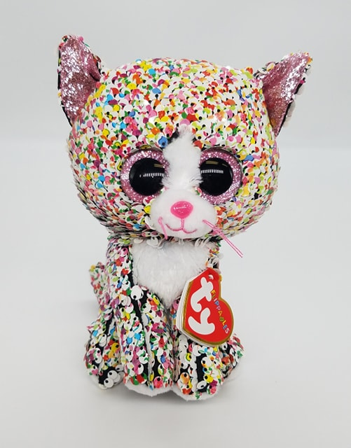Confetti the Cat TY Flippable Beanie
