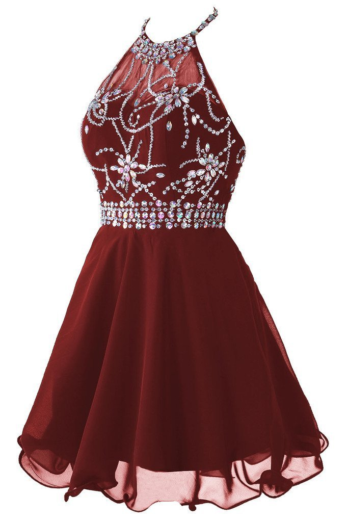 Short Prom Dress, Homecoming Dress with Beading ,Fashion Graduation Party Dress TDH1013