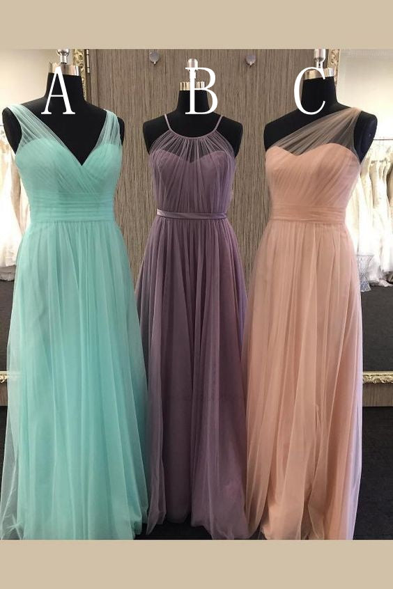 Fashion Long Bridesmaid Dress,Custom Made Wedding Party Dress TDB1024