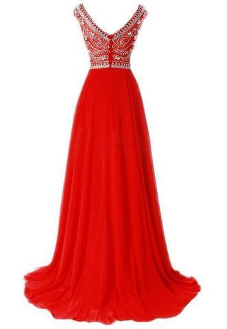 Beaded Prom Dress Long, Dresses For Event, Evening Dress,Formal Gown,Graduation Party Dress TDP1026