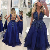 Long Prom Dresses With Applique and Beading, Dresses For Event, Evening Dress ,Formal Gown, Graduation Party Dress TDP1234