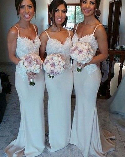 Mermaid Long Bridesmaid Dress,Custom Made Wedding Party Dress TDB1026