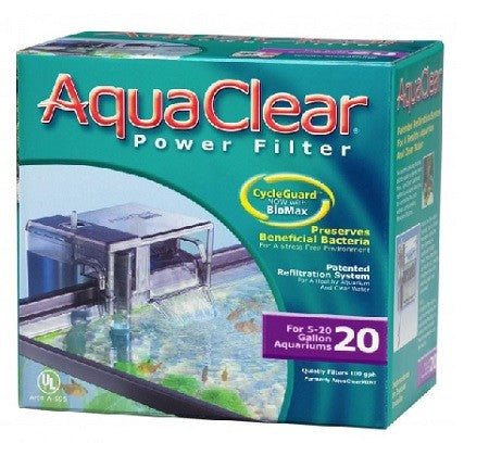 AQUACLEAR 20 HANG ON FILTER FITS EDGE