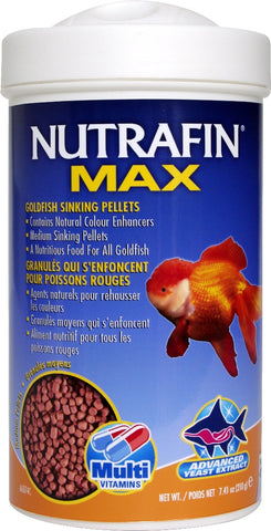 Nutrafin Max Medium Goldfish Sinking Pellets - 210gm