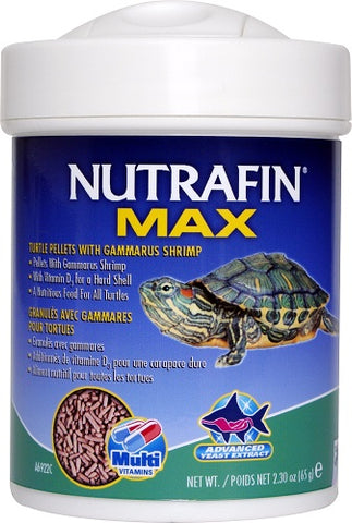 NUTRAFIN MAX TURTLE PELLETS WITH GAMMARUS SHRIMP 65GM