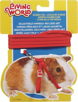 GUINEA PIG HARNESS RED LIVING WORLD