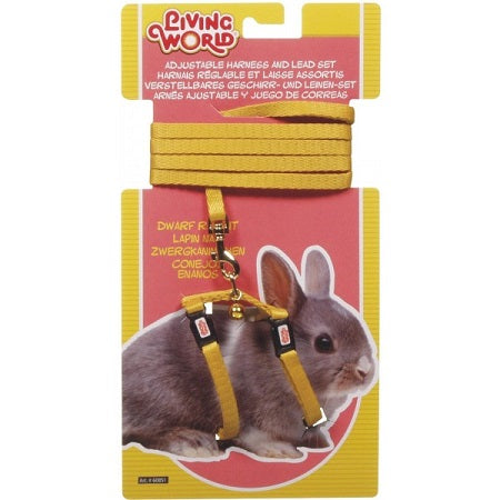 RABBIT DWARF HARNESS YELLOW LIVING WORLD
