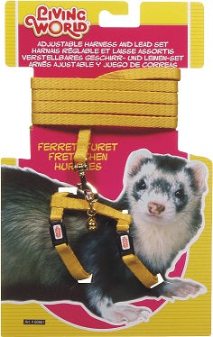 FERRET HARNESS YELLOW LIVIN WORLD