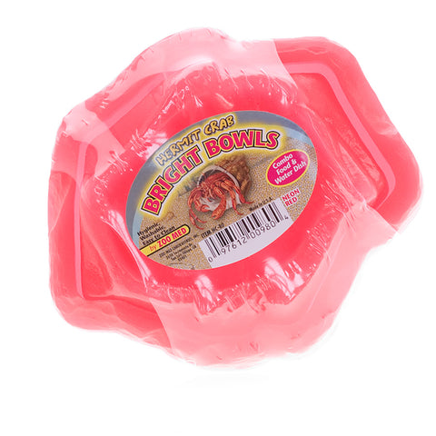 HERMIT CRAB BRIGHT BOWLS 2PK RED