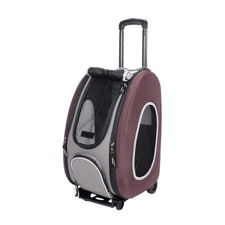 EVA PET WHEELED CARRIER IBIYAYA CHOCOLATE