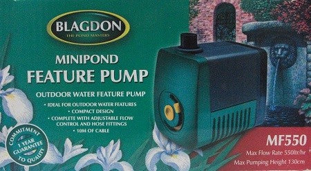 MINIPOND FEATURE PUMP OUTDOOR USE 10MTR CABLE 550L/H