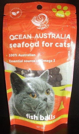 FISH BALLS OCEAN AUSTRALIA SEAFOOD FOR CATS 50G