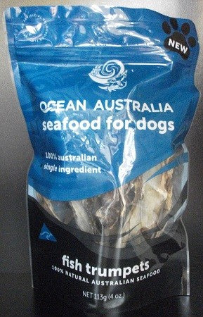 FISH TRUMPET OCEAN AUSTRALIA SEAFOOD FOR DOGS 113G