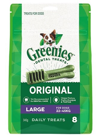 GREENIES LARGE 340G (8PK)