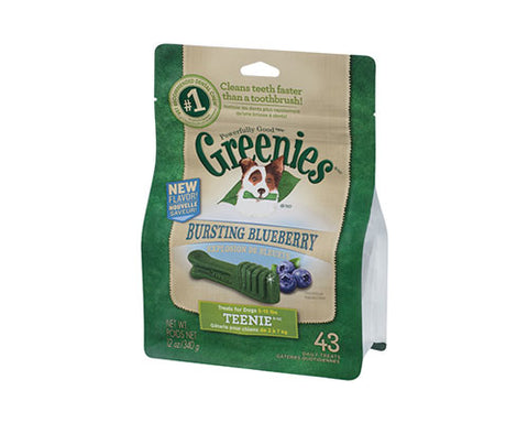 GREENIES TEENIE BLUEBERRY 340G (43PK)