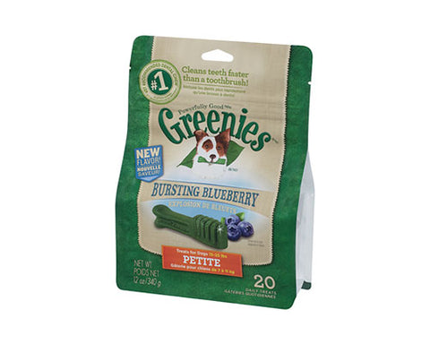 GREENIES REGULAR BLUEBERRY 340G (12PK)