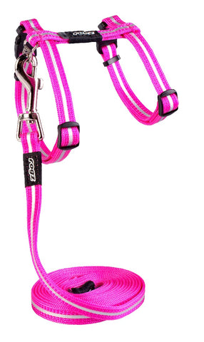 ALLEYCAT HARNESS & LEAD PINK 11MM