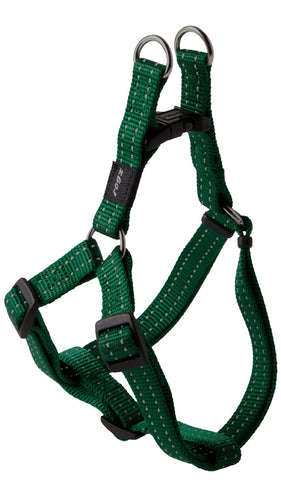 SNAKE STEP IN HARNESS DARK GREEN