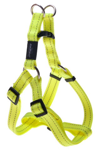 FANBELT STEP IN HARNESS DAYGLOW YELLOW