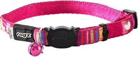 NEOCAT SAFELOCK COLLAR CANDYSTRP PINK 11MM