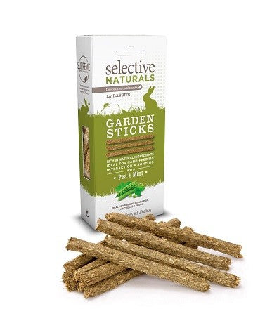 GARDEN STICKS RABBITS PEA/MINT NATURALS 60G