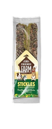 TINY FRIENDS FARM STICKLES TIMOTHY HAY/HERBS 100G