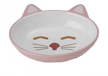 BOWL HERE KITTY CAT OVAL PINK 13CM
