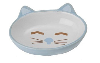 BOWL HERE KITTY CAT OVAL BLUE 13CM