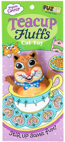 Fuzzu Tea Cups Cat Toy Chipmunk
