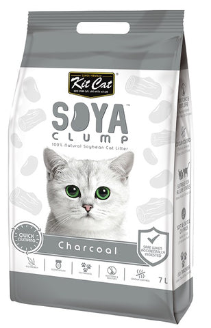 Kit Cat Soya Clump Litter Charcoal 7Ltr