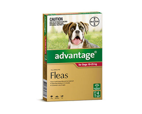ADVANTAGE DOG RED 10-25K 4PK