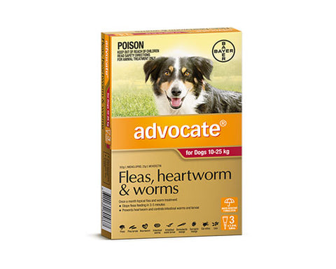 ADVOCATE DOG RED 10-25K 3PK