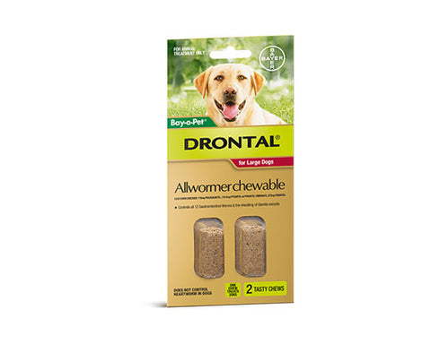 DRONTAL LARGE DOG 2 CHEWS