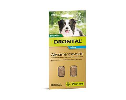 DRONTAL MED CHEWS 2PK