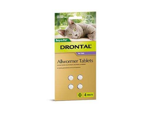 DRONTAL CAT 4 TABLETS
