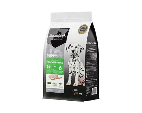 BLACKHAWK PUPPY CHICKEN/RICE 3KG