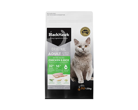 BLACKHAWK CAT CHICKEN & RICE 1.5KG