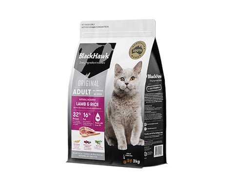 BLACKHAWK CAT LAMB/RICE 3kg