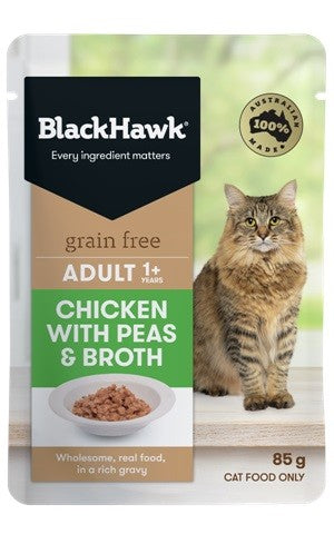 BLACKHAWK CAT CHICK/PEA BROTH 85G POUCH