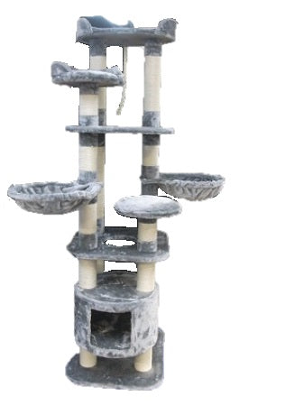 CAT SCRATCHER 2MTR (70'') HIGH RISE LIGHT GREY
