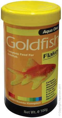 GOLDFISH FLAKE 100G AQUA ONE