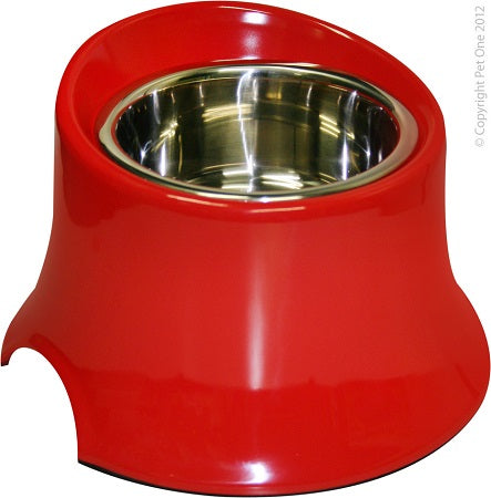 Bowl Melamine SS Round Tall 600ml Red