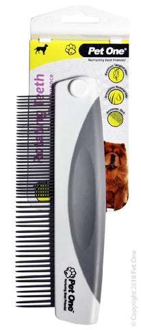 Grooming Comb With Rotating Teeth Fine 55 Pins Premium Handle